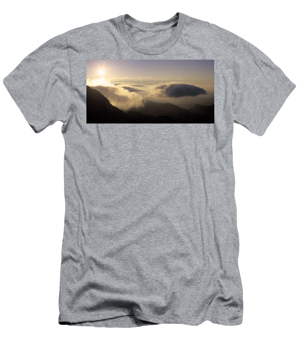 Alps Men's T-Shirt (Athletic Fit) featuring the photograph Celestial Wanderers by Konstantin Dikovsky