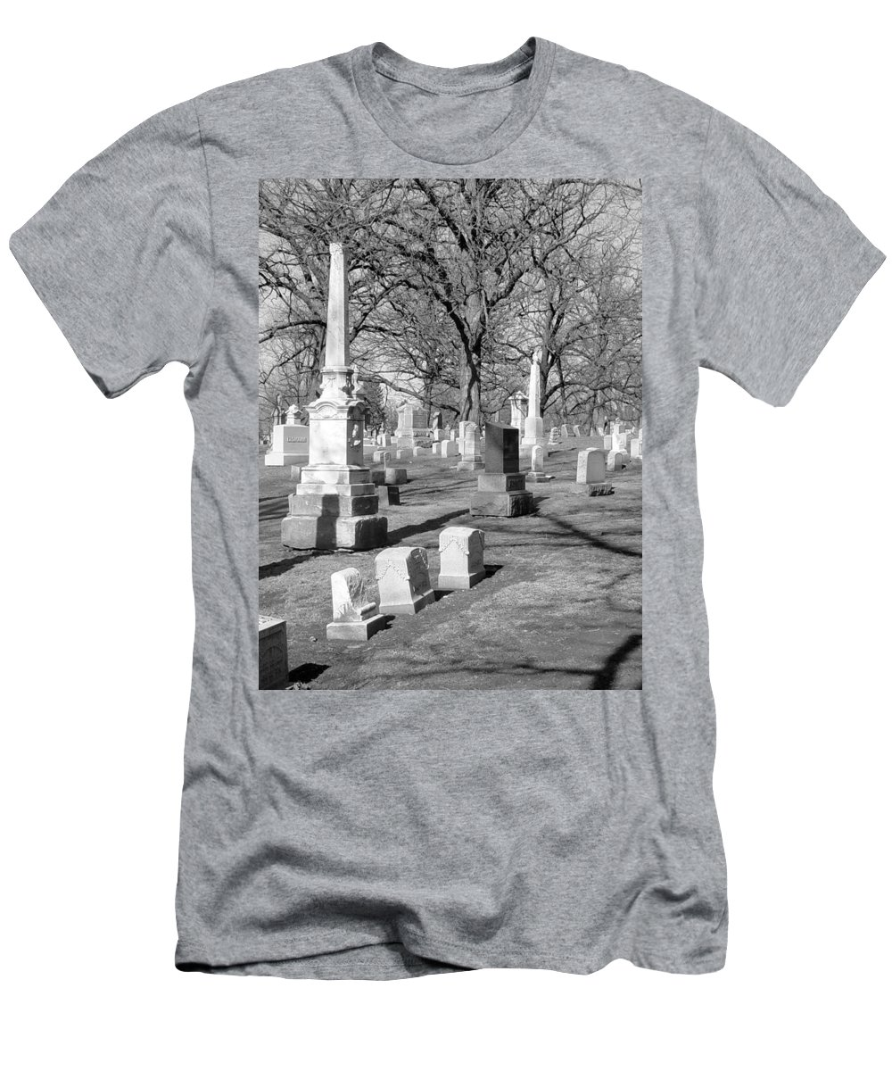 Cemetery Men's T-Shirt (Athletic Fit) featuring the photograph Cemetery 3 by Anita Burgermeister