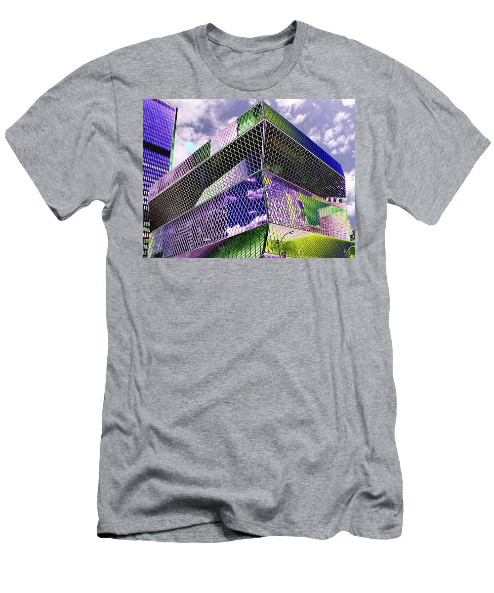 Seattle Men's T-Shirt (Athletic Fit) featuring the digital art Central Library Seattle by Tim Allen