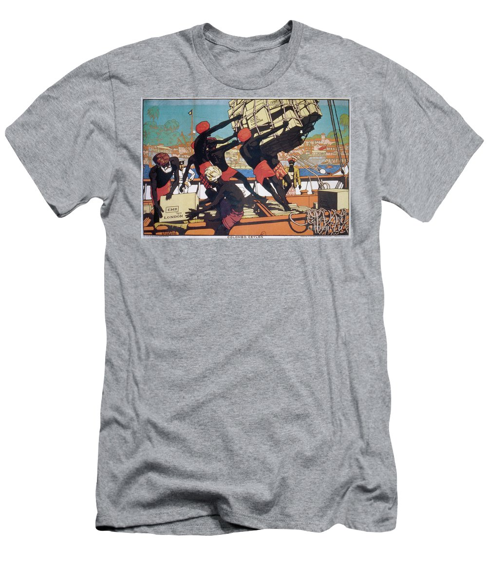 1928 Men's T-Shirt (Athletic Fit) featuring the drawing Ceylonese Dockworkers by Granger