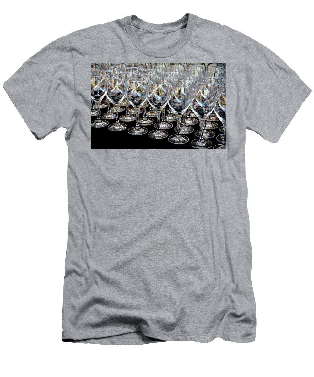 Flute Men's T-Shirt (Athletic Fit) featuring the photograph Champagne Army by Stephen Mitchell
