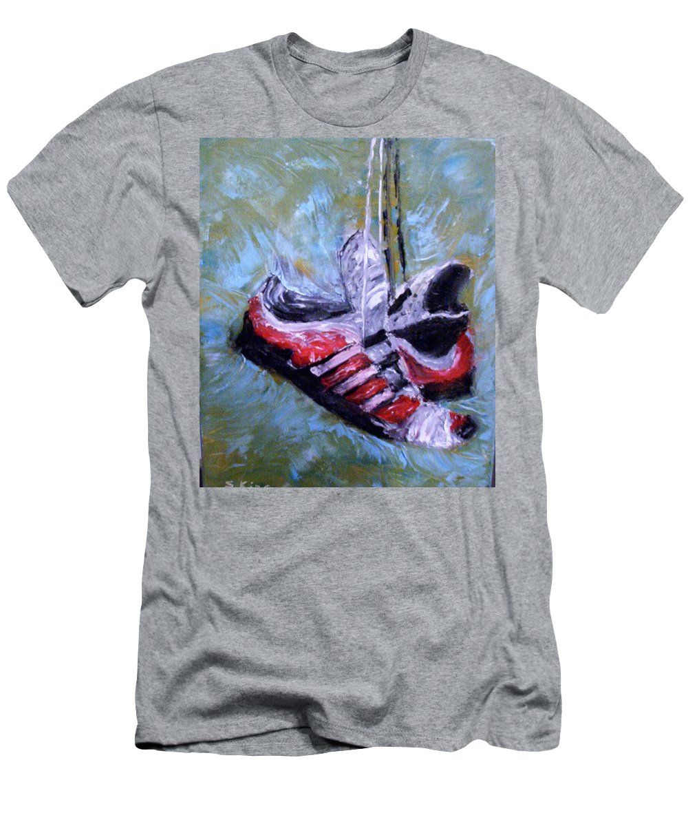 Still Life Men's T-Shirt (Athletic Fit) featuring the painting Champion by Stephen King