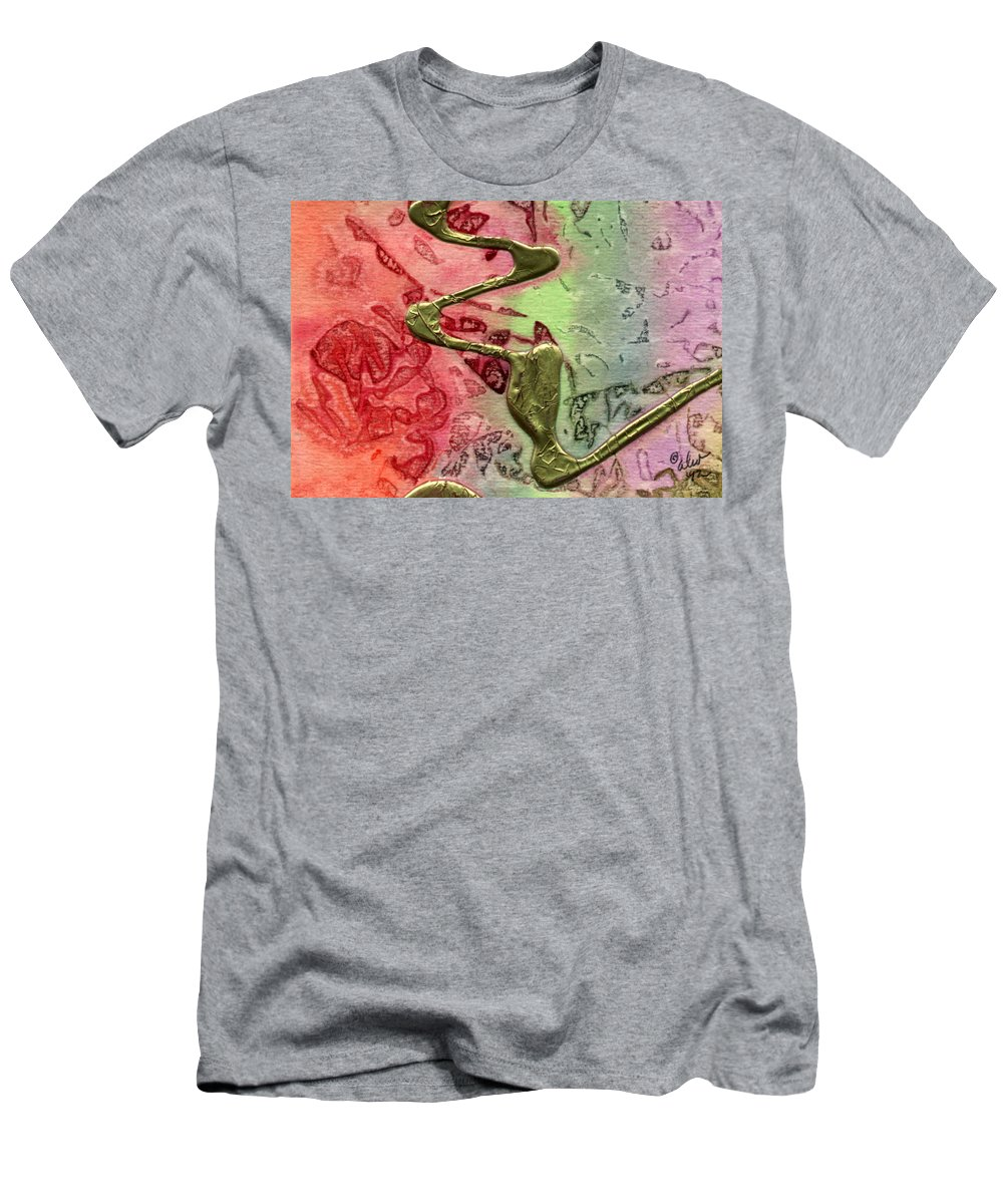 Abstract Men's T-Shirt (Athletic Fit) featuring the mixed media Changes by Angela L Walker