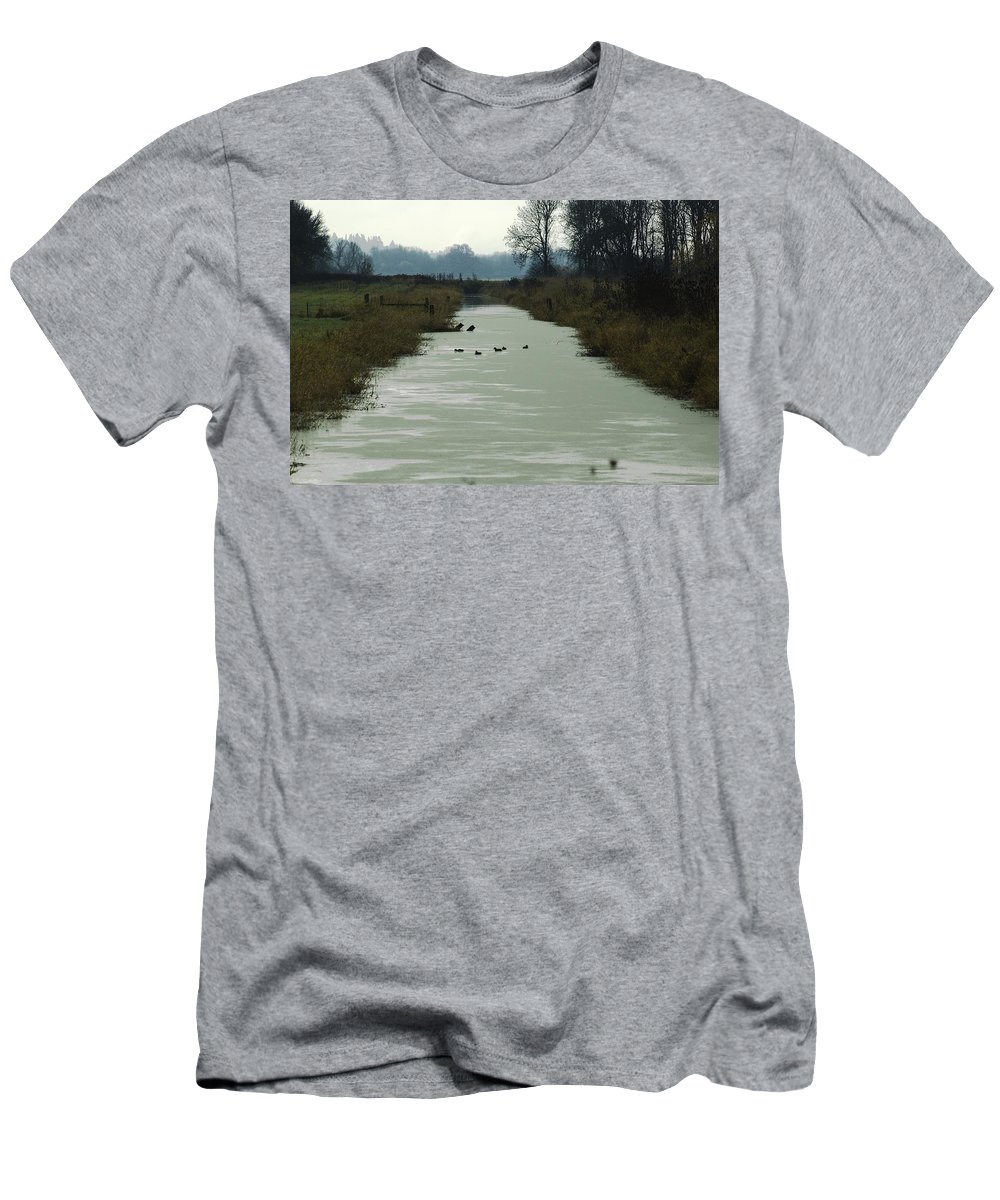 Wetland Men's T-Shirt (Athletic Fit) featuring the photograph Channel by Sara Stevenson