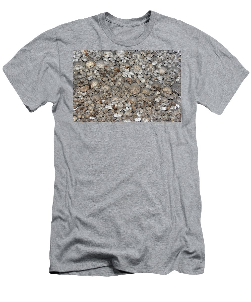 Charnel House Men's T-Shirt (Athletic Fit) featuring the photograph Charnel House by Michal Boubin