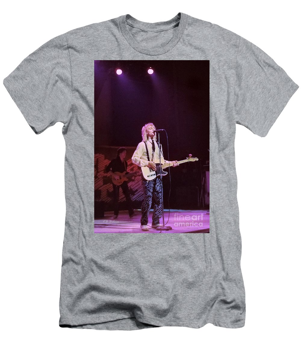Robin Zander Men's T-Shirt (Athletic Fit) featuring the photograph Cheap Trick 4 by Kevin B Bohner