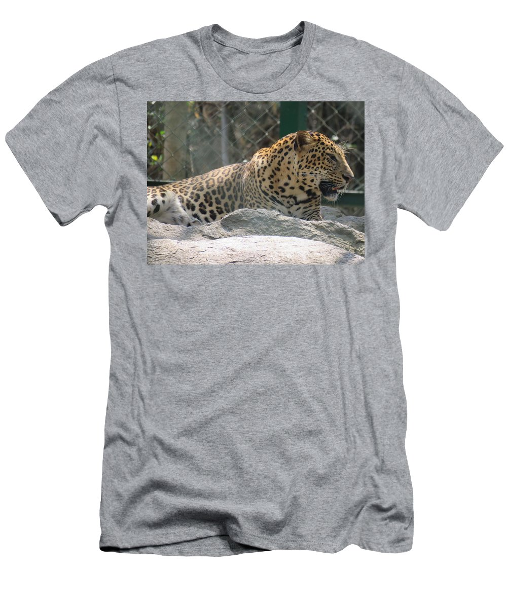 Leopard Men's T-Shirt (Athletic Fit) featuring the photograph Cheetah by Utpal Datta