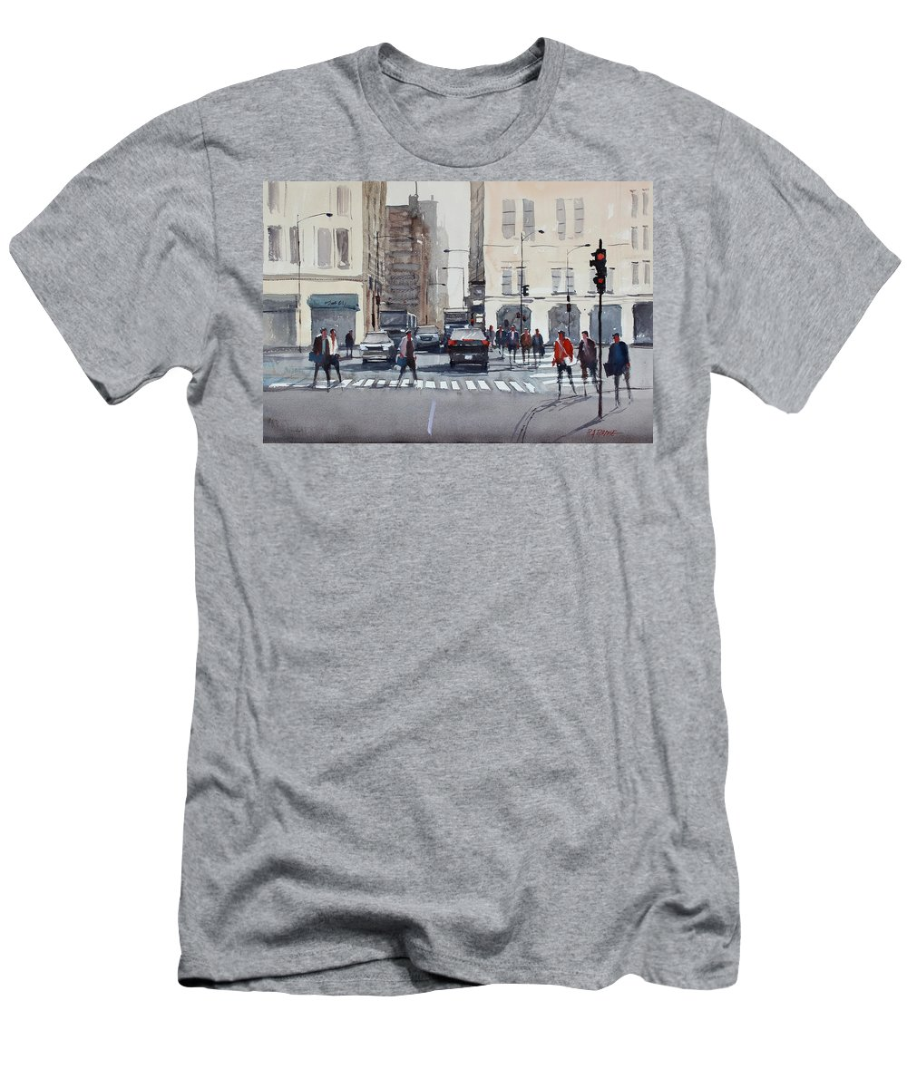 Chicago Men's T-Shirt (Athletic Fit) featuring the painting Chicago Impressions by Ryan Radke