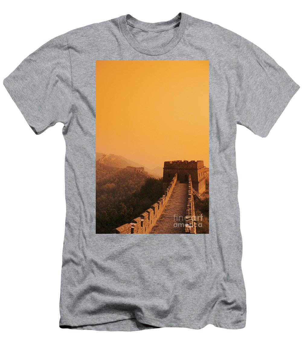 Afar Men's T-Shirt (Athletic Fit) featuring the photograph China, Mu Tian Yu by Gloria & Richard Maschmeyer - Printscapes