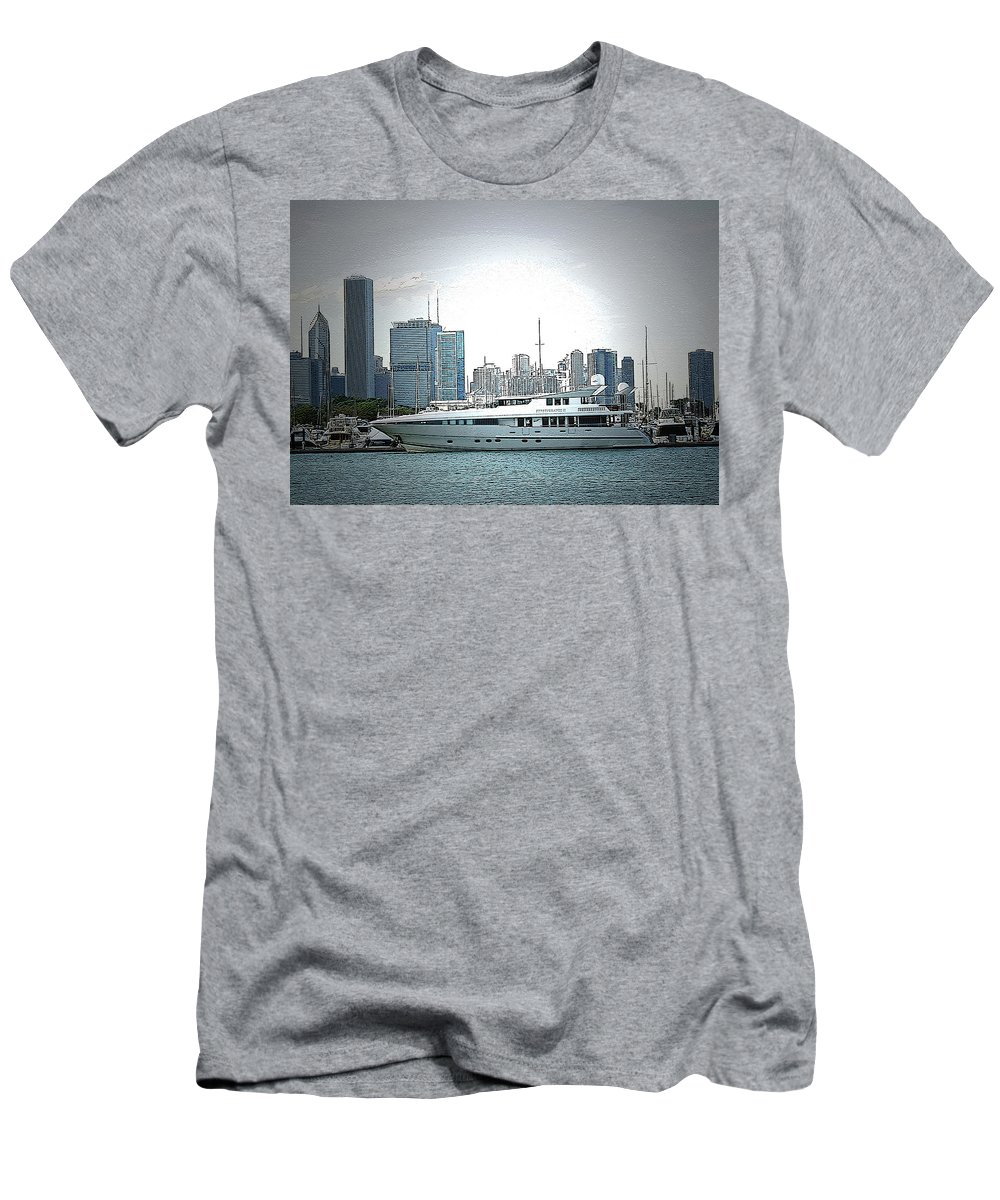 Yacht Men's T-Shirt (Athletic Fit) featuring the photograph Chiscape by Vm Vassolo
