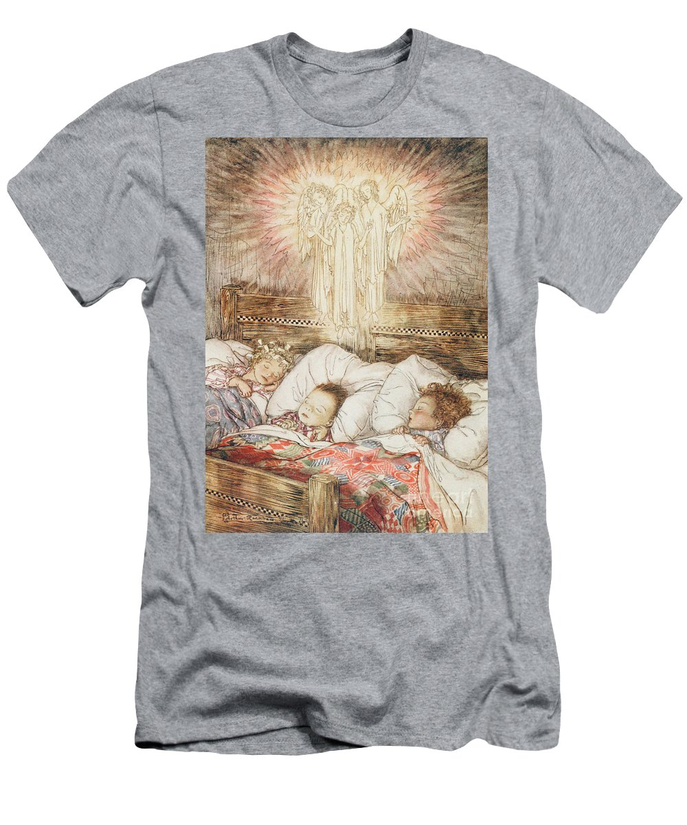 Xmas Men's T-Shirt (Athletic Fit) featuring the drawing Christmas Illustrations From The Night Before Christmas by Arthur Rackham