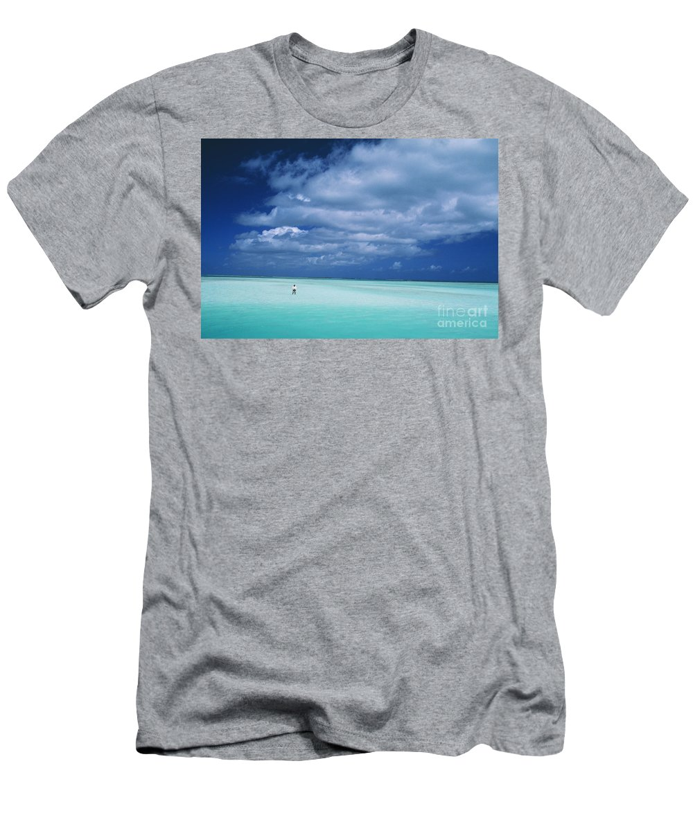 Alone Men's T-Shirt (Athletic Fit) featuring the photograph Christmas Island, Bone Fi by Ron Dahlquist - Printscapes