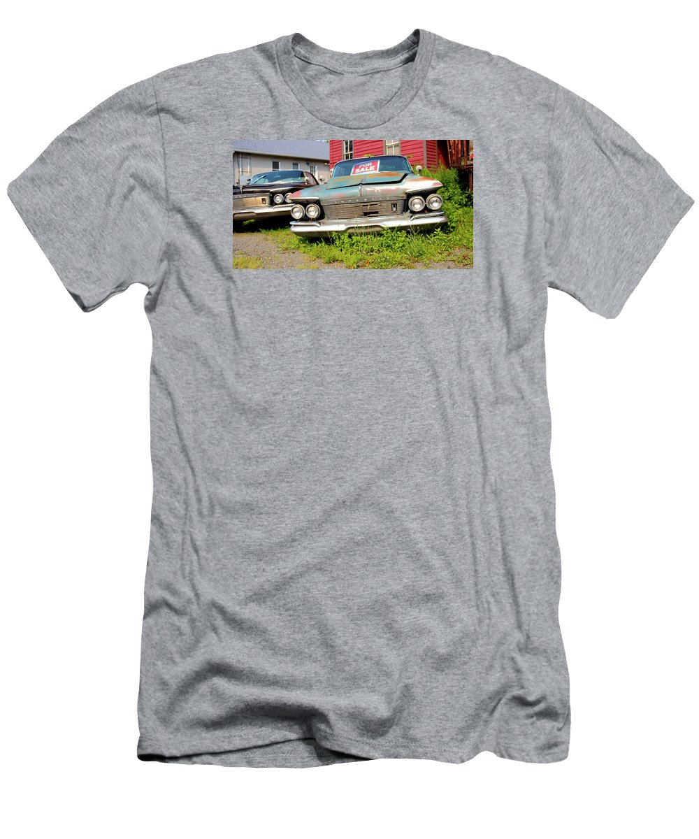 Chrysler Men's T-Shirt (Athletic Fit) featuring the photograph Chrysler Imperials by Brian Manfra