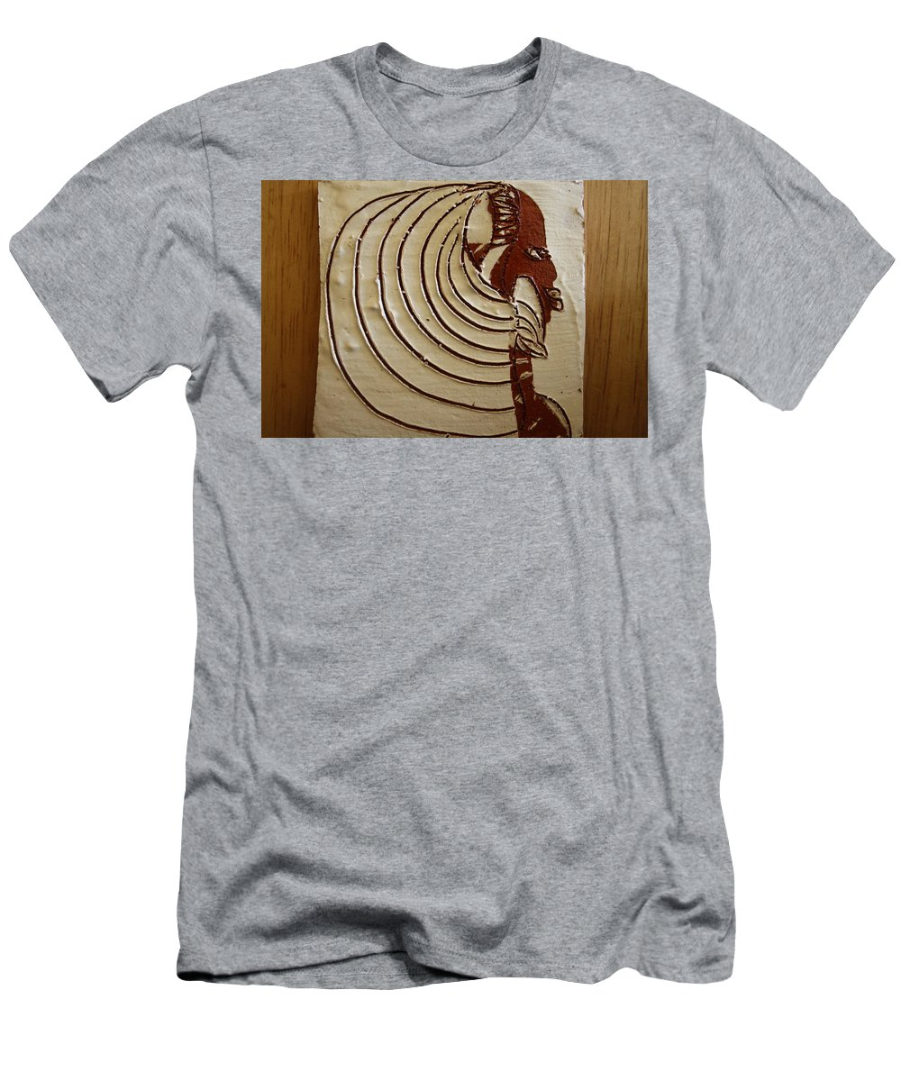 Jesus Men's T-Shirt (Athletic Fit) featuring the ceramic art Church Lady 3 - Tile by Gloria Ssali