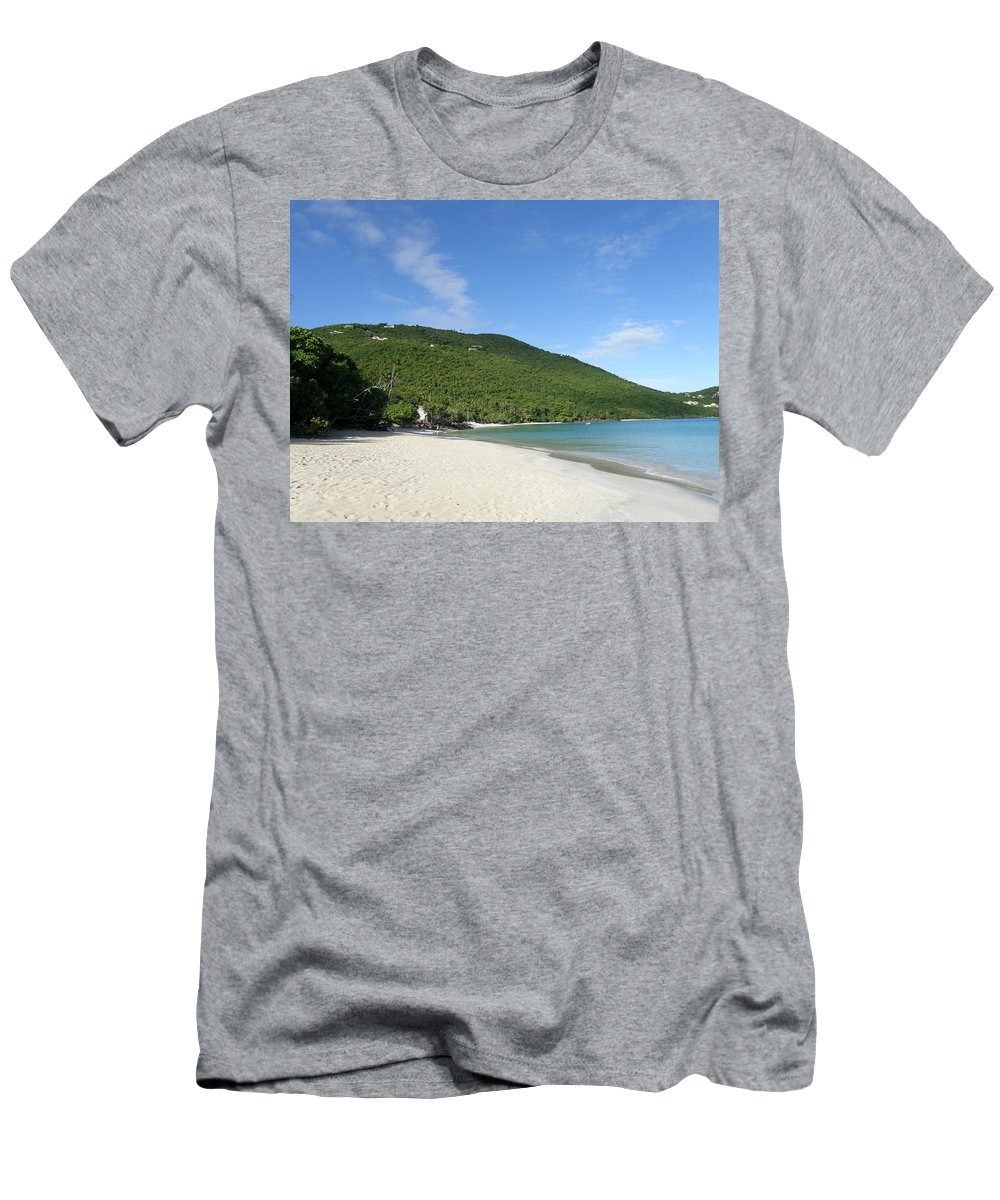 Ocean Men's T-Shirt (Athletic Fit) featuring the photograph Cinnamon Bay by Kimberly Mohlenhoff