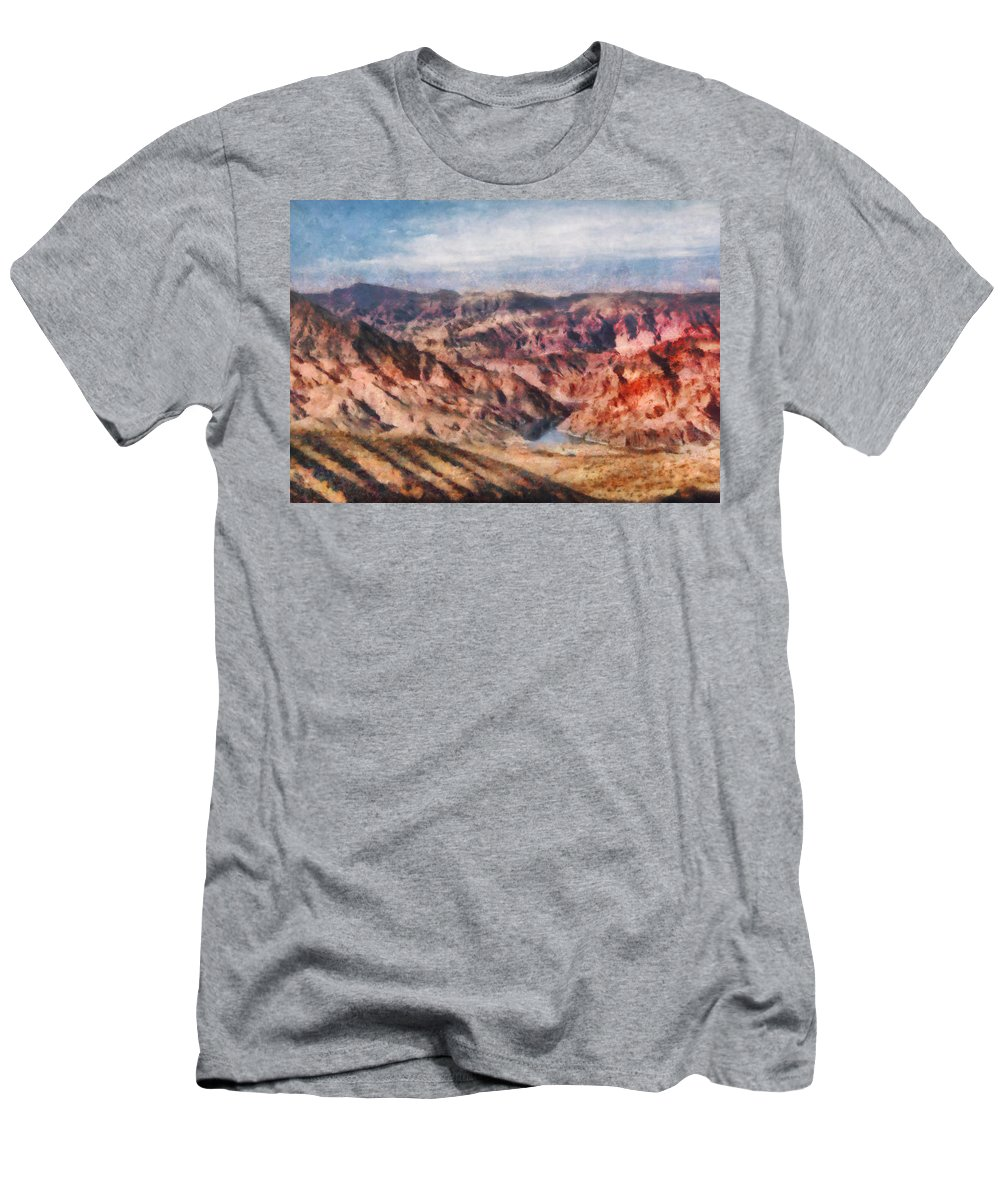 Savad Men's T-Shirt (Athletic Fit) featuring the photograph City - Arizona - Grand Hills by Mike Savad
