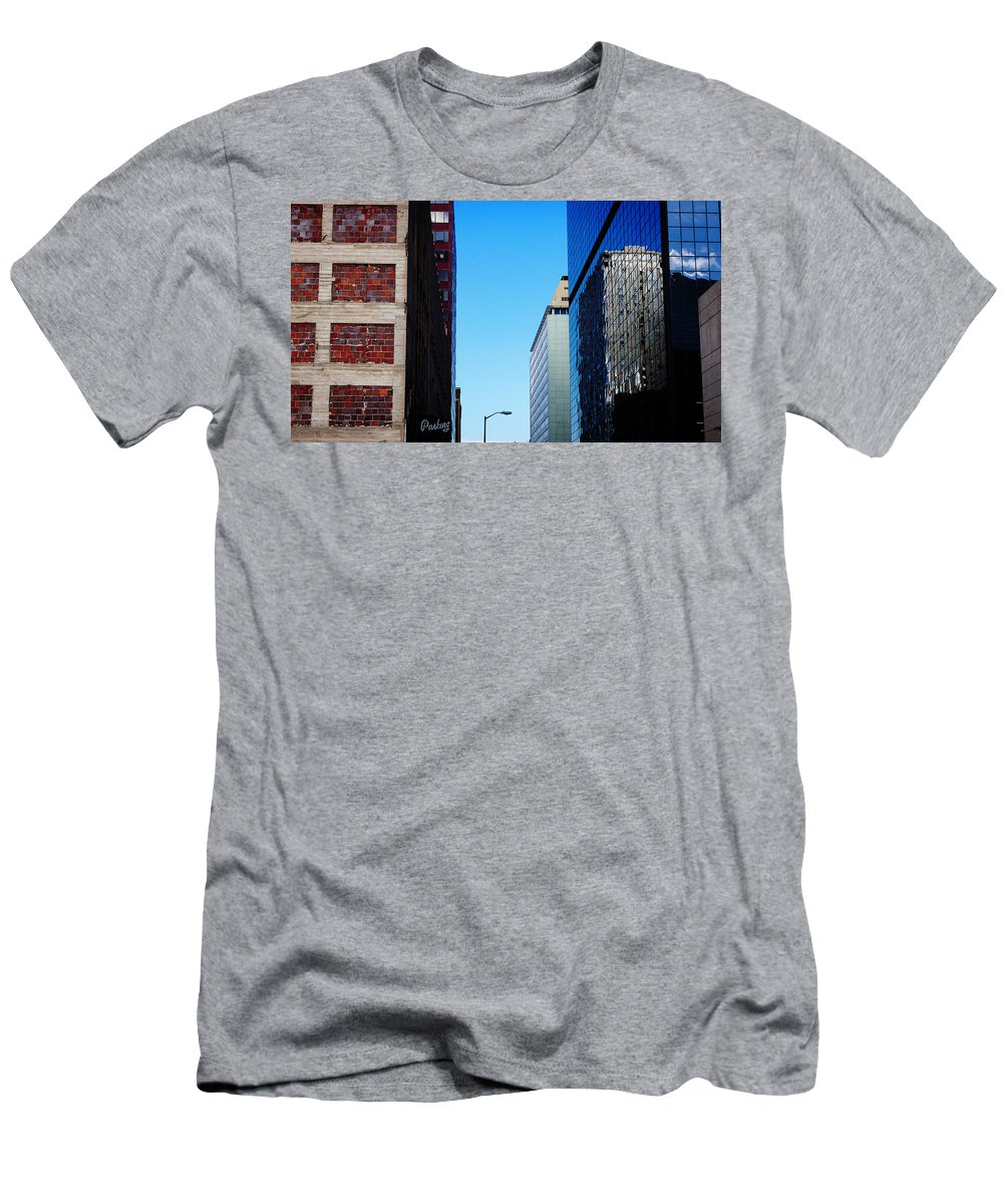 Architecture Men's T-Shirt (Athletic Fit) featuring the photograph City Buildings by CEB Imagery