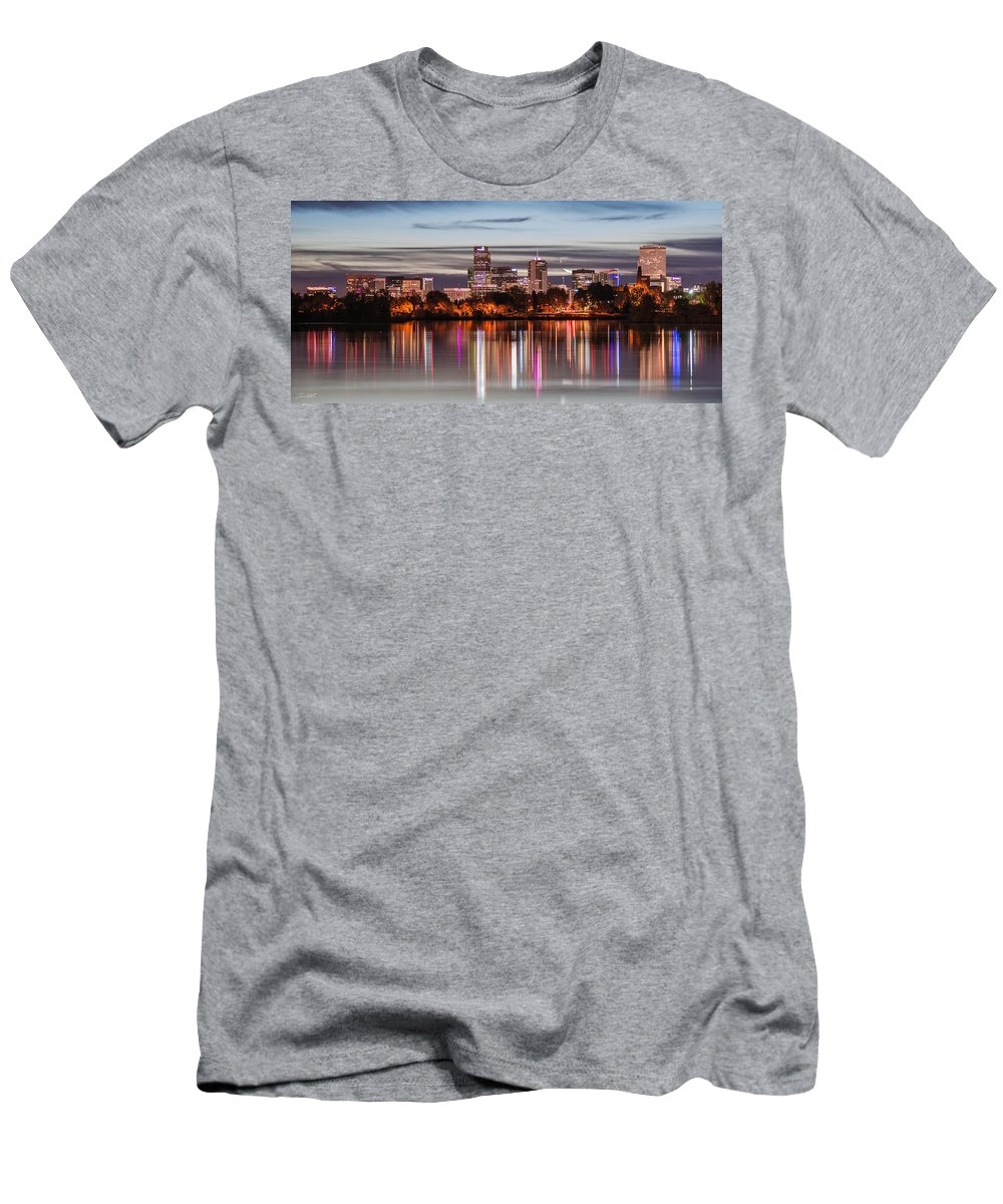 Denver Men's T-Shirt (Athletic Fit) featuring the photograph City Lights by Jon Blake