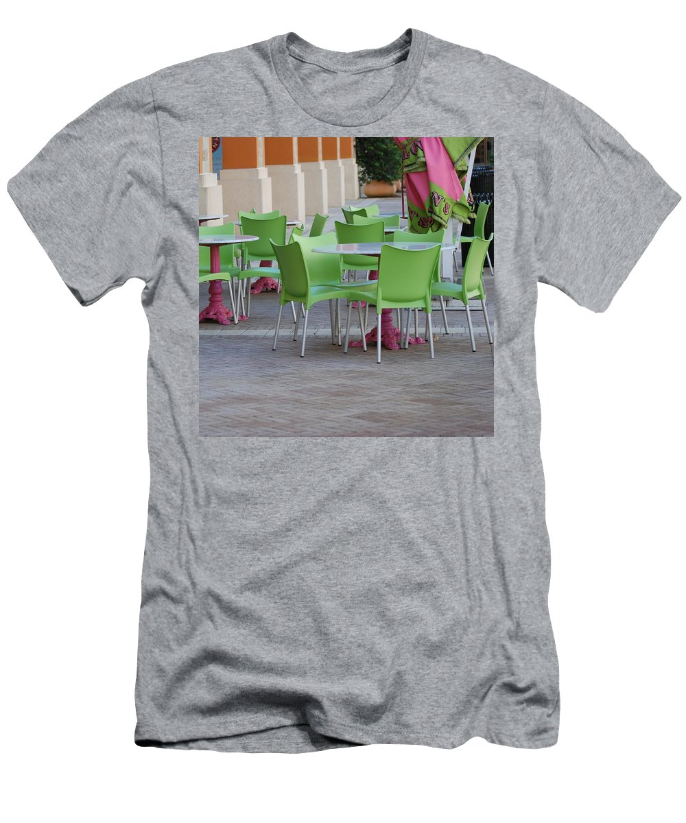 Chairs Men's T-Shirt (Athletic Fit) featuring the photograph City Place Seats by Rob Hans