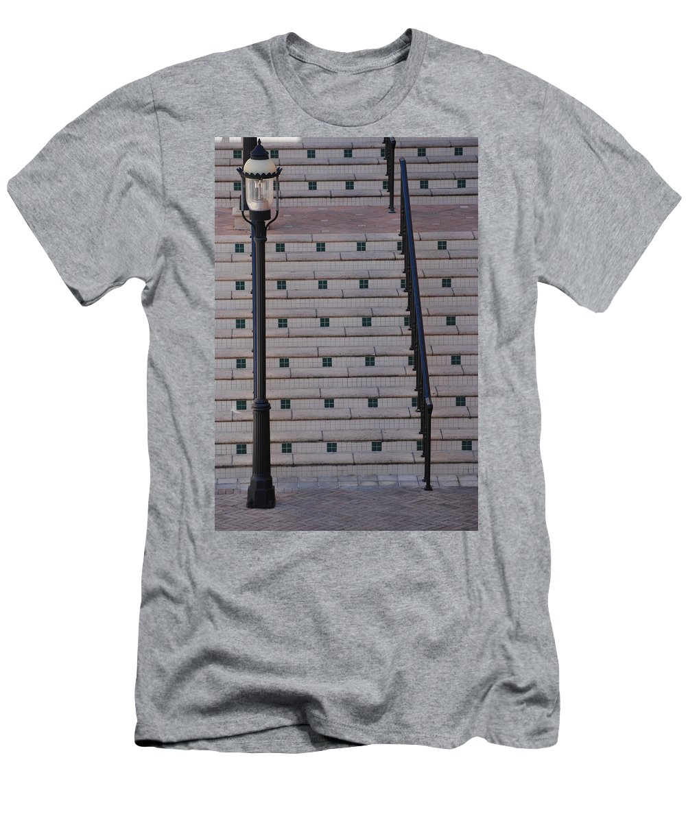 Architecture Men's T-Shirt (Athletic Fit) featuring the photograph City Stairs by Rob Hans