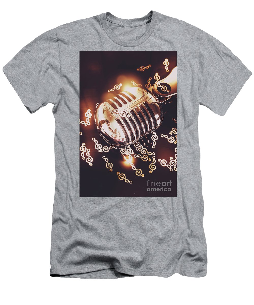 Microphone Men's T-Shirt (Athletic Fit) featuring the photograph Classics At The Audio Hall by Jorgo Photography - Wall Art Gallery