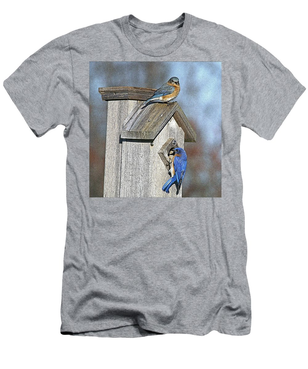Nature Men's T-Shirt (Athletic Fit) featuring the photograph Cleaning House by Robert Pearson