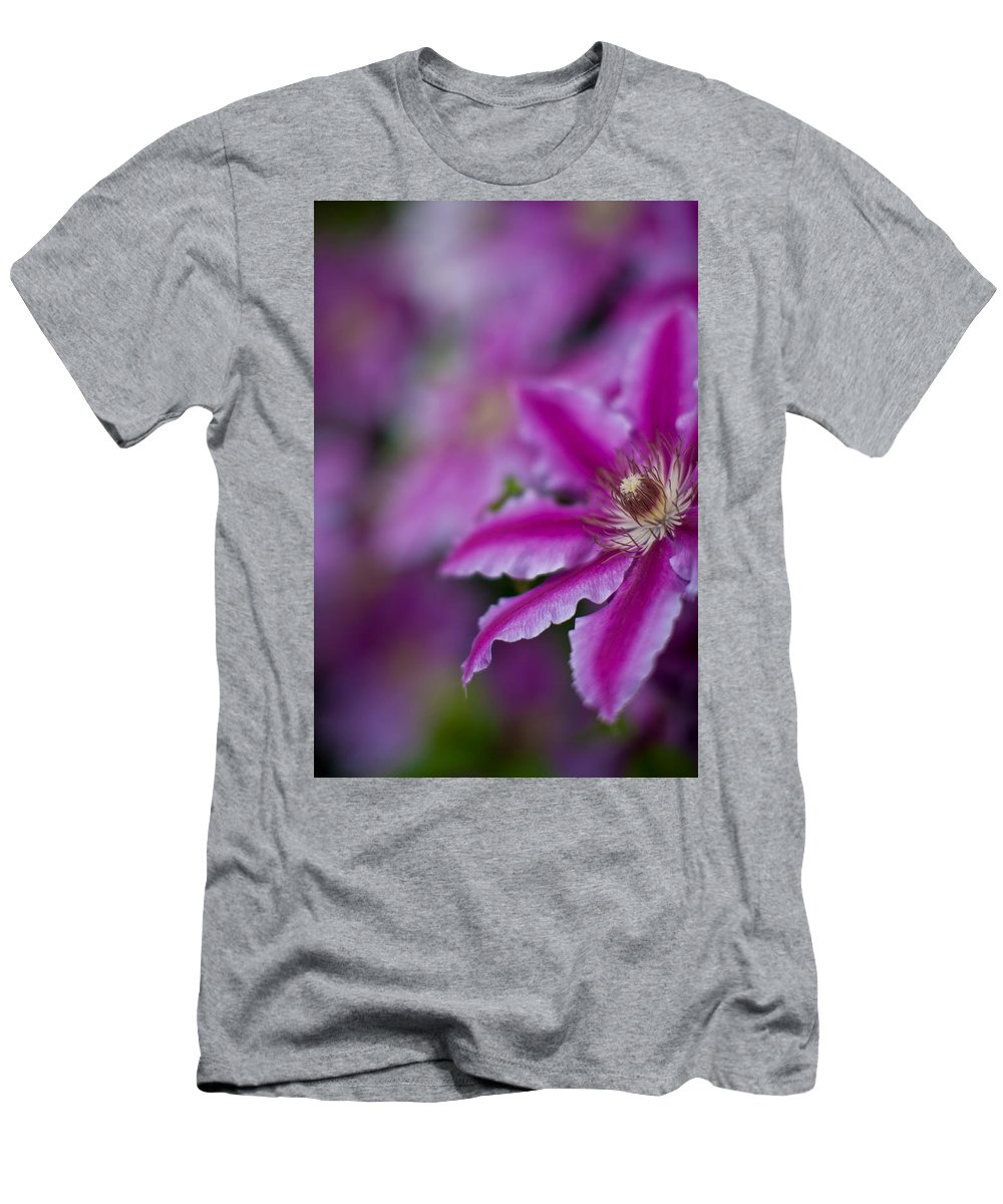 Clematis Men's T-Shirt (Athletic Fit) featuring the photograph Clematis Dream by Mike Reid