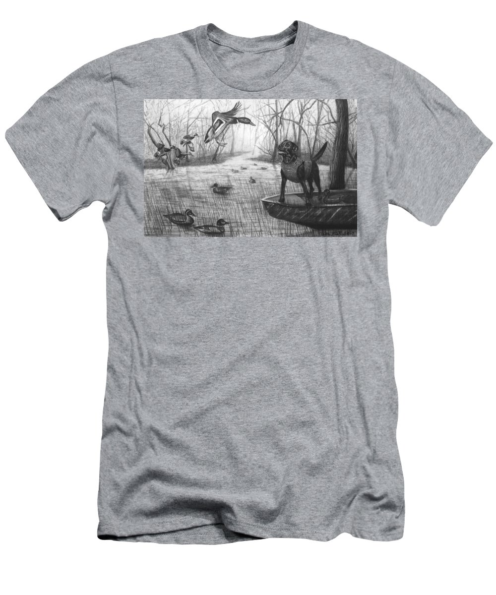 Cloaked Men's T-Shirt (Athletic Fit) featuring the drawing Cloaked by Peter Piatt