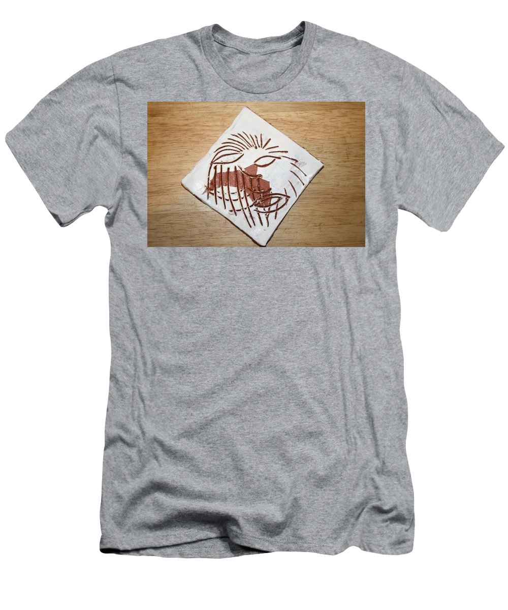 Jesus Men's T-Shirt (Athletic Fit) featuring the ceramic art Clocked Off - Tile by Gloria Ssali