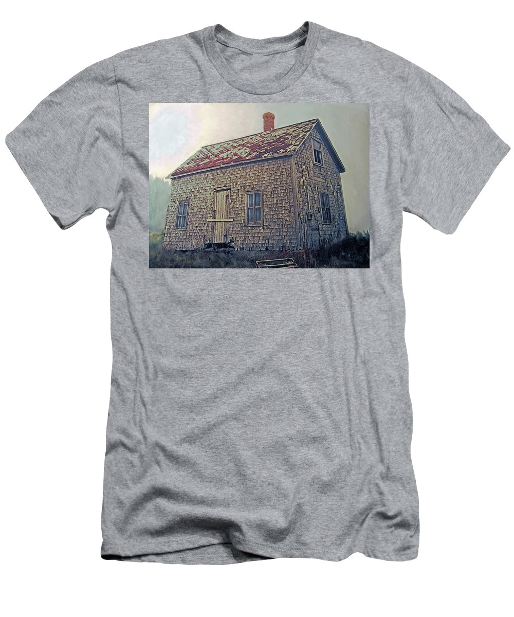 Shack Men's T-Shirt (Athletic Fit) featuring the photograph Closed by Ian MacDonald
