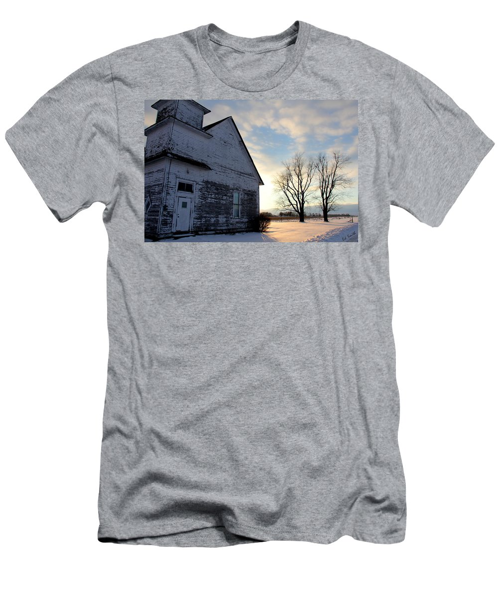 Closed On Sunday Men's T-Shirt (Athletic Fit) featuring the photograph Closed On Sunday by Ed Smith