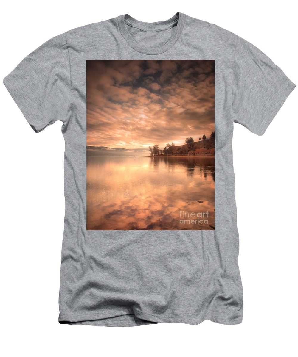Clouds Men's T-Shirt (Athletic Fit) featuring the photograph Cloud Cover by Tara Turner