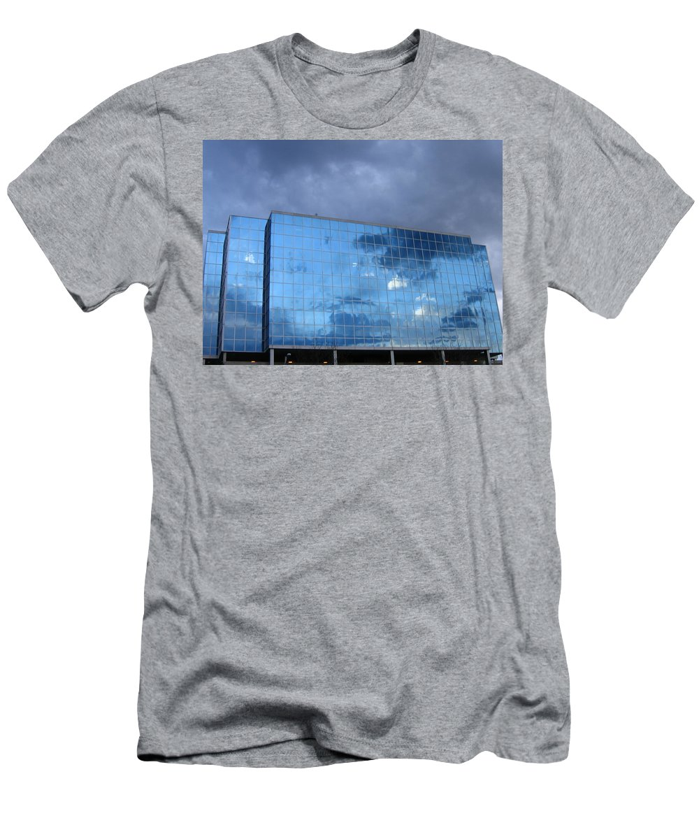 Clouds Men's T-Shirt (Athletic Fit) featuring the photograph Cloud Reflection by Denise Keegan Frawley