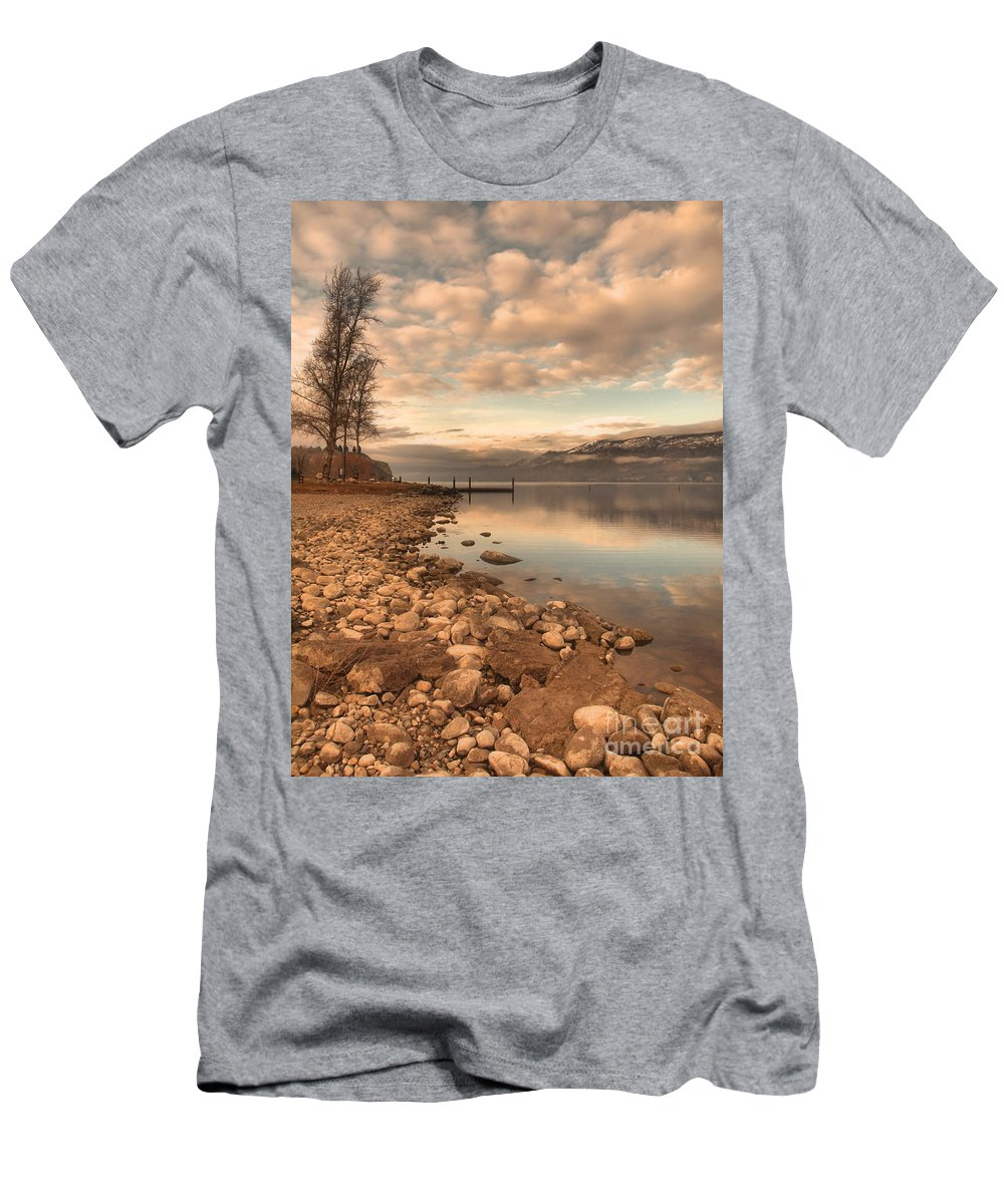 Clouds Men's T-Shirt (Athletic Fit) featuring the photograph Clouds And Calmness by Tara Turner