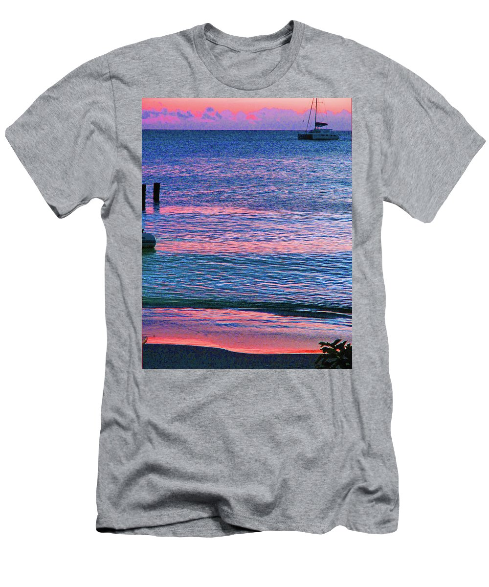 St Kitts Men's T-Shirt (Athletic Fit) featuring the photograph Clouds On The Horizon by Ian MacDonald