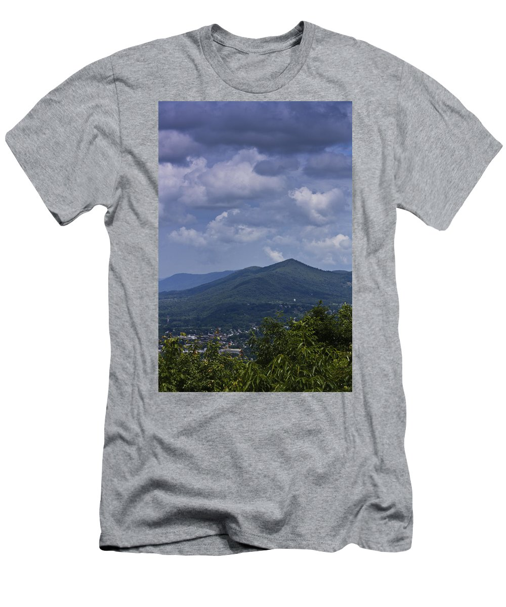 Roanoke Men's T-Shirt (Athletic Fit) featuring the photograph Cloudy Day In Virginia by Teresa Mucha