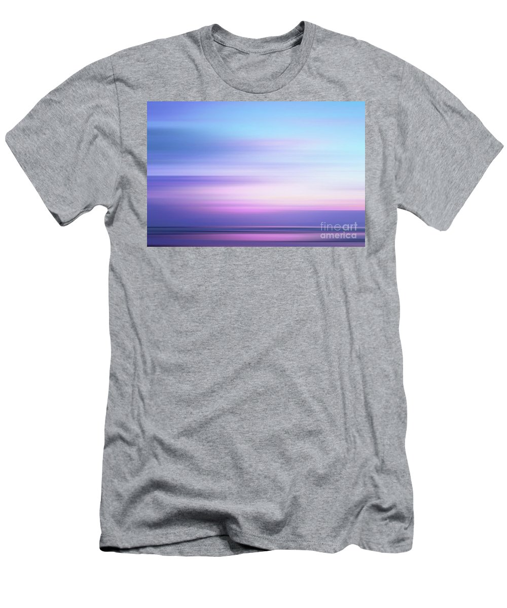 Abstract Men's T-Shirt (Athletic Fit) featuring the photograph Coastal Horizon 4 by Delphimages Photo Creations