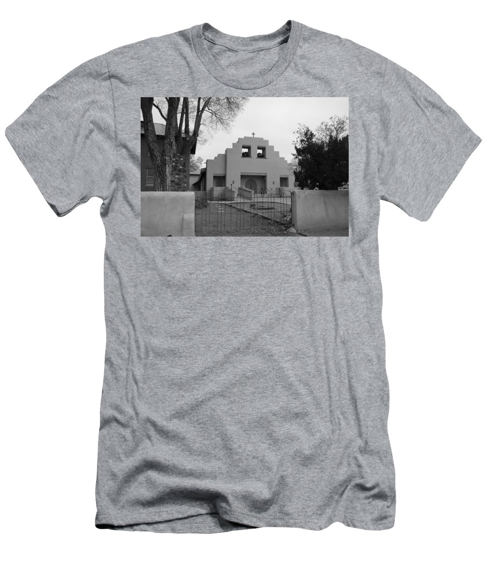 Architecture Men's T-Shirt (Athletic Fit) featuring the photograph Cochiti Church by Rob Hans