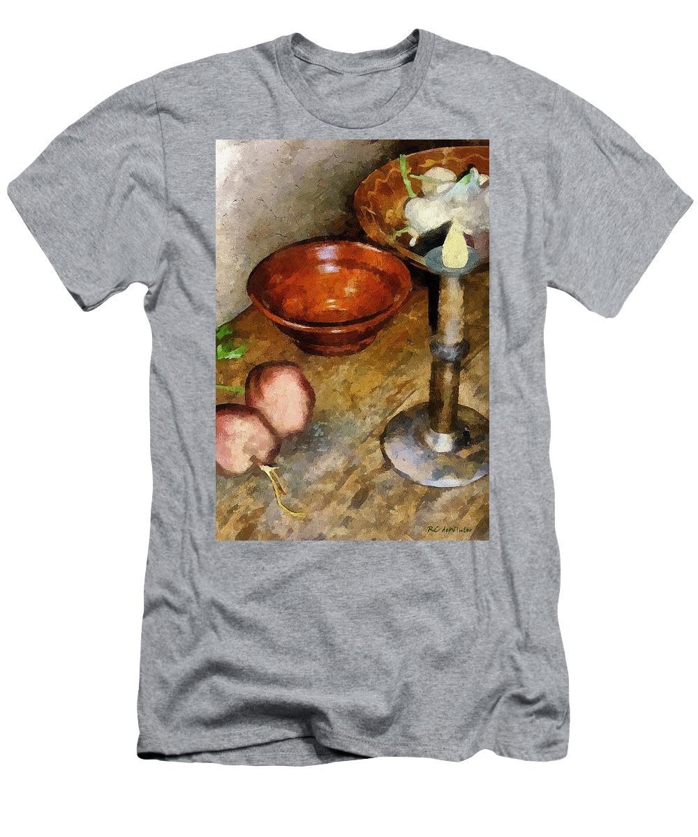 Still Life Men's T-Shirt (Athletic Fit) featuring the painting Cold Comfort Kitchen by RC DeWinter