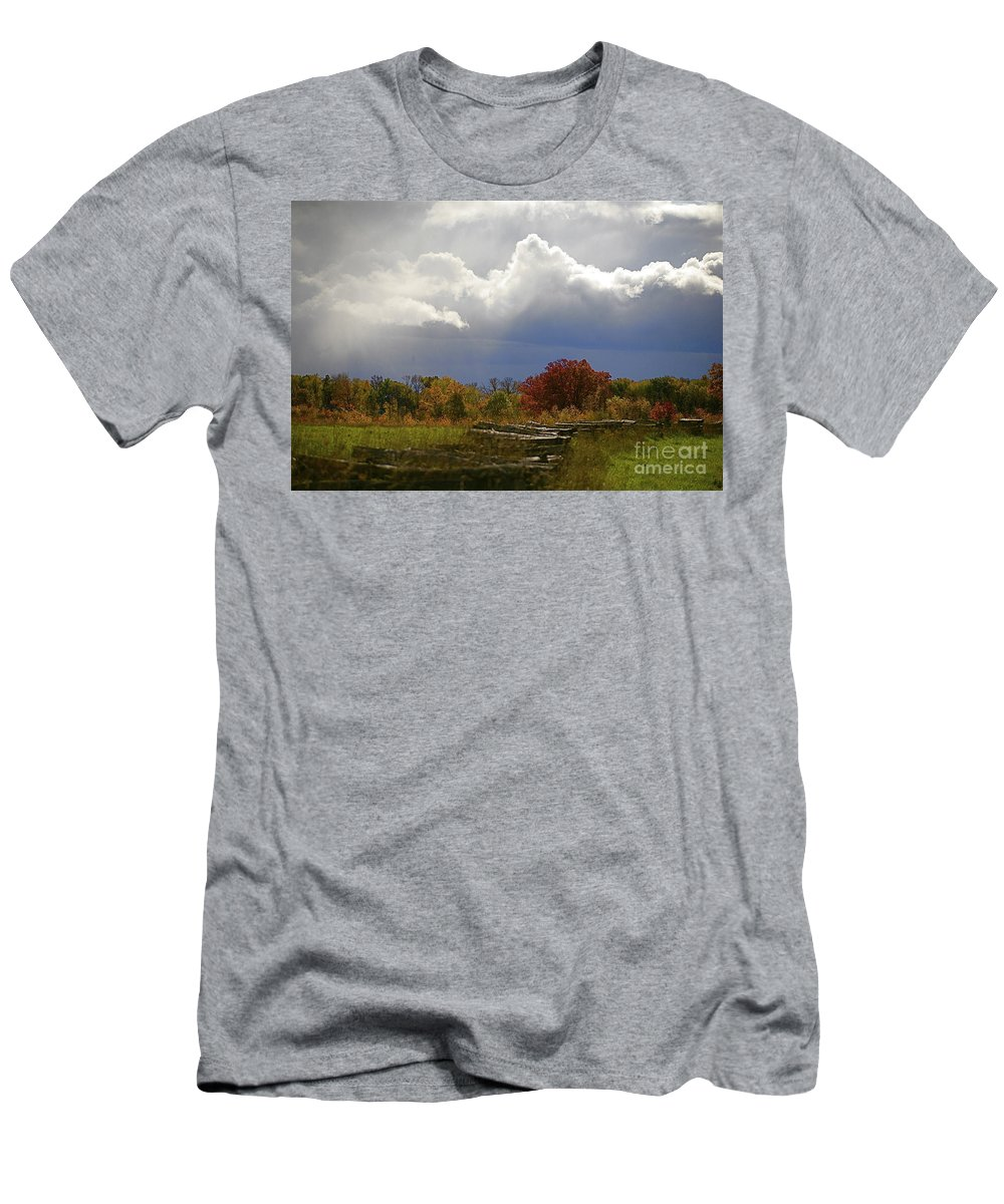 Landscape Men's T-Shirt (Athletic Fit) featuring the photograph Cold Front by Robert Pearson