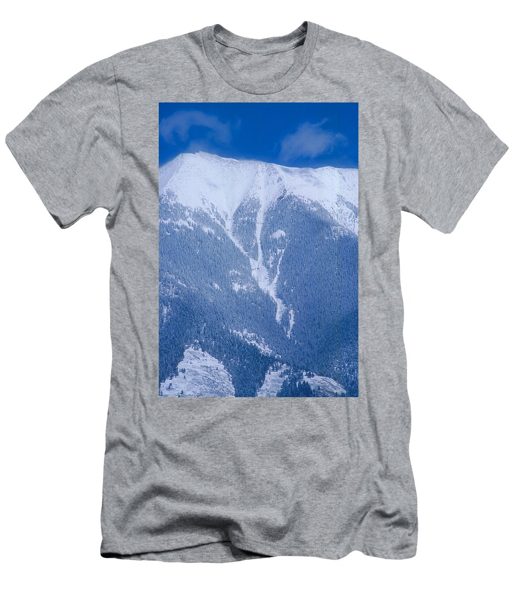 Mountain Men's T-Shirt (Athletic Fit) featuring the photograph Cold Mountain by Jerry McElroy
