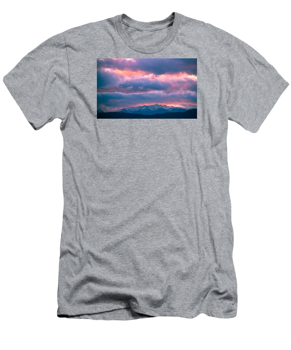 Beauty Men's T-Shirt (Athletic Fit) featuring the photograph Cold November Rain by Eti Reid