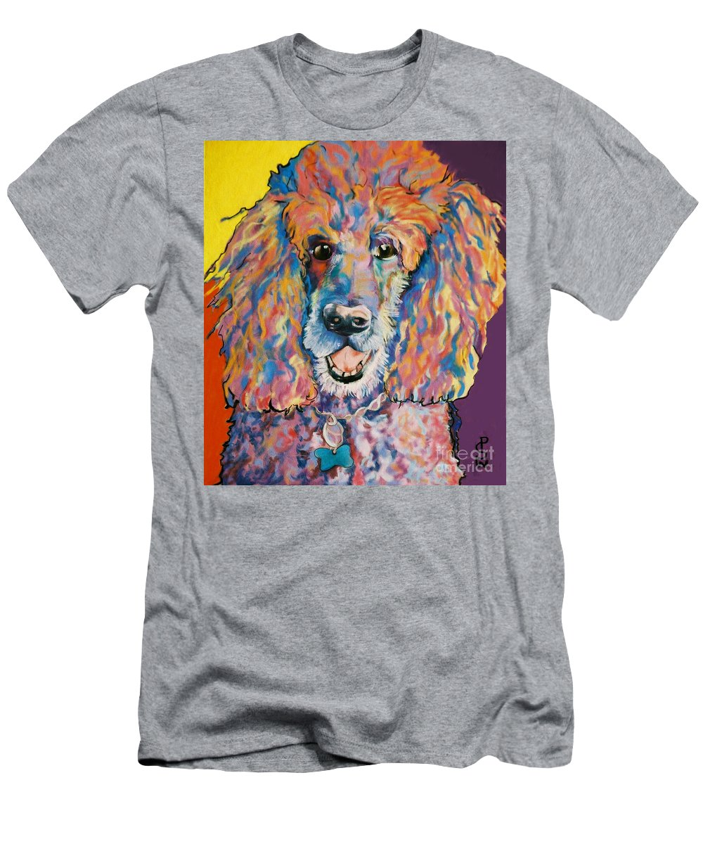 Standard Poodle T-Shirt featuring the painting Cole by Pat Saunders-White
