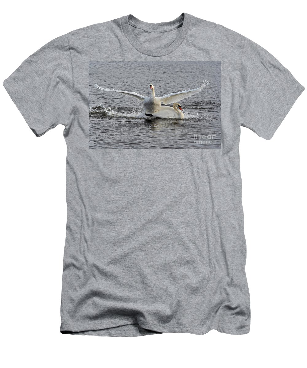Nature Men's T-Shirt (Athletic Fit) featuring the photograph Collision by Michal Boubin