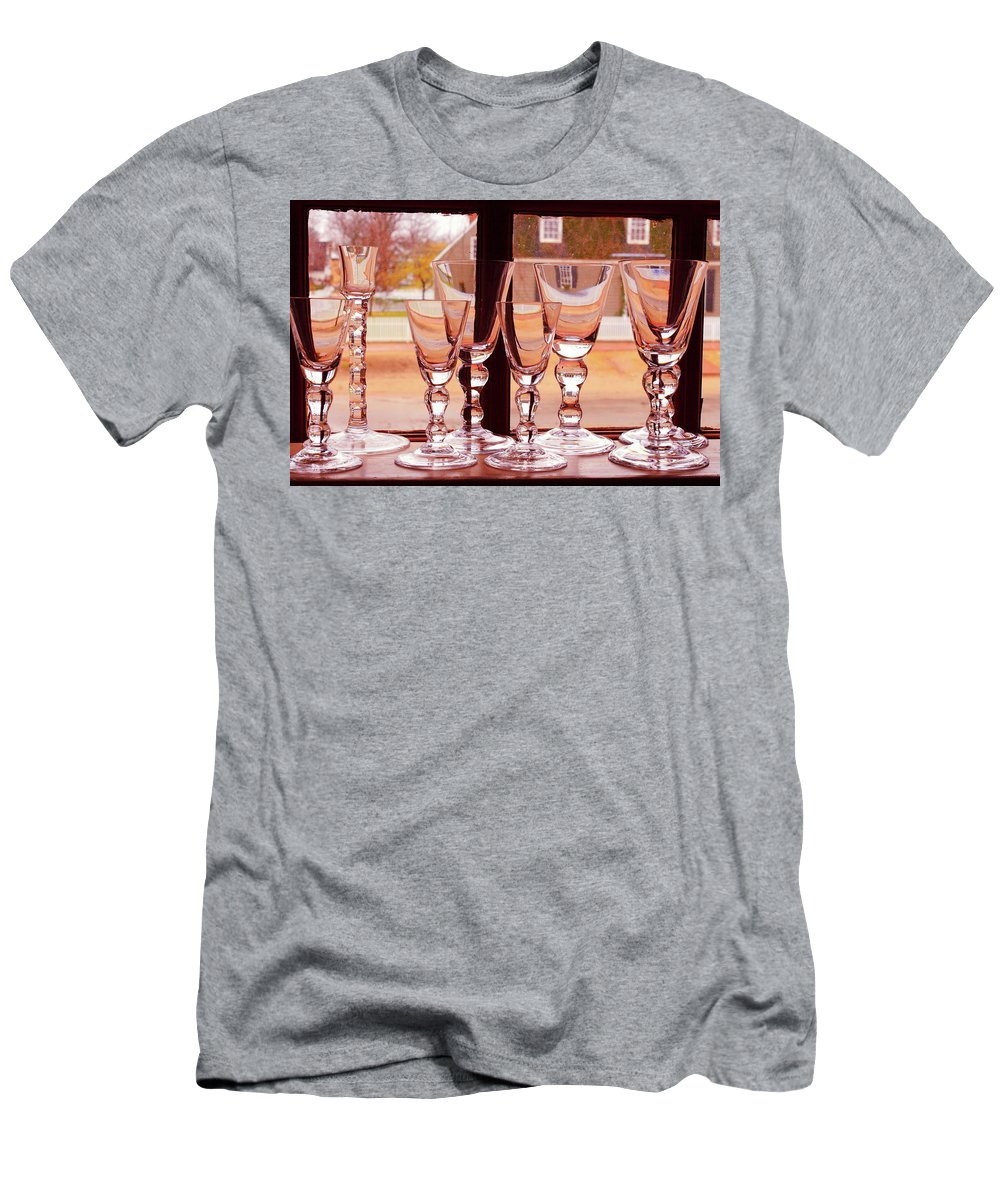 American Men's T-Shirt (Athletic Fit) featuring the photograph Colonial Glassware by Lou Ford