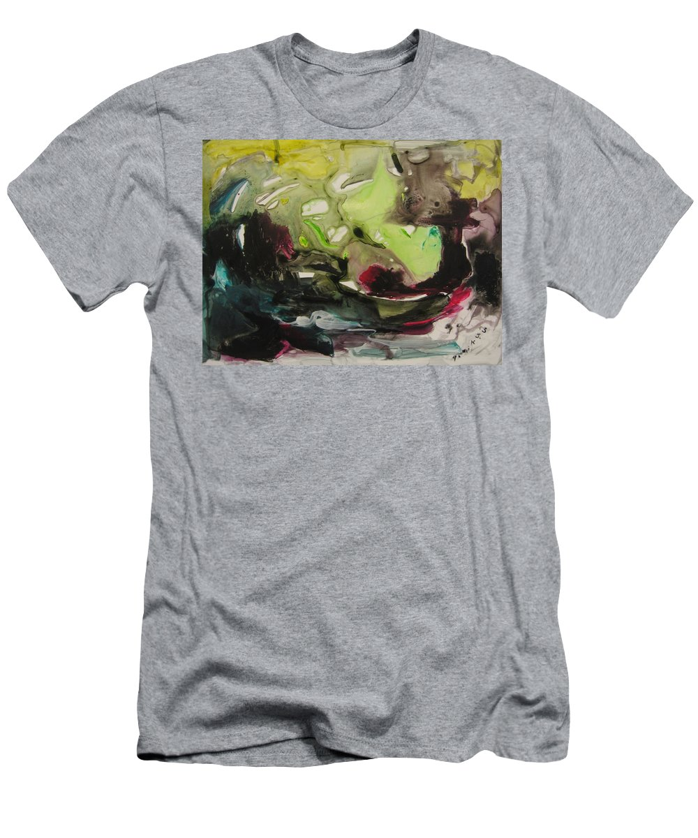 Abstract Paintings Men's T-Shirt (Athletic Fit) featuring the painting Color Fever 116 by Seon-Jeong Kim