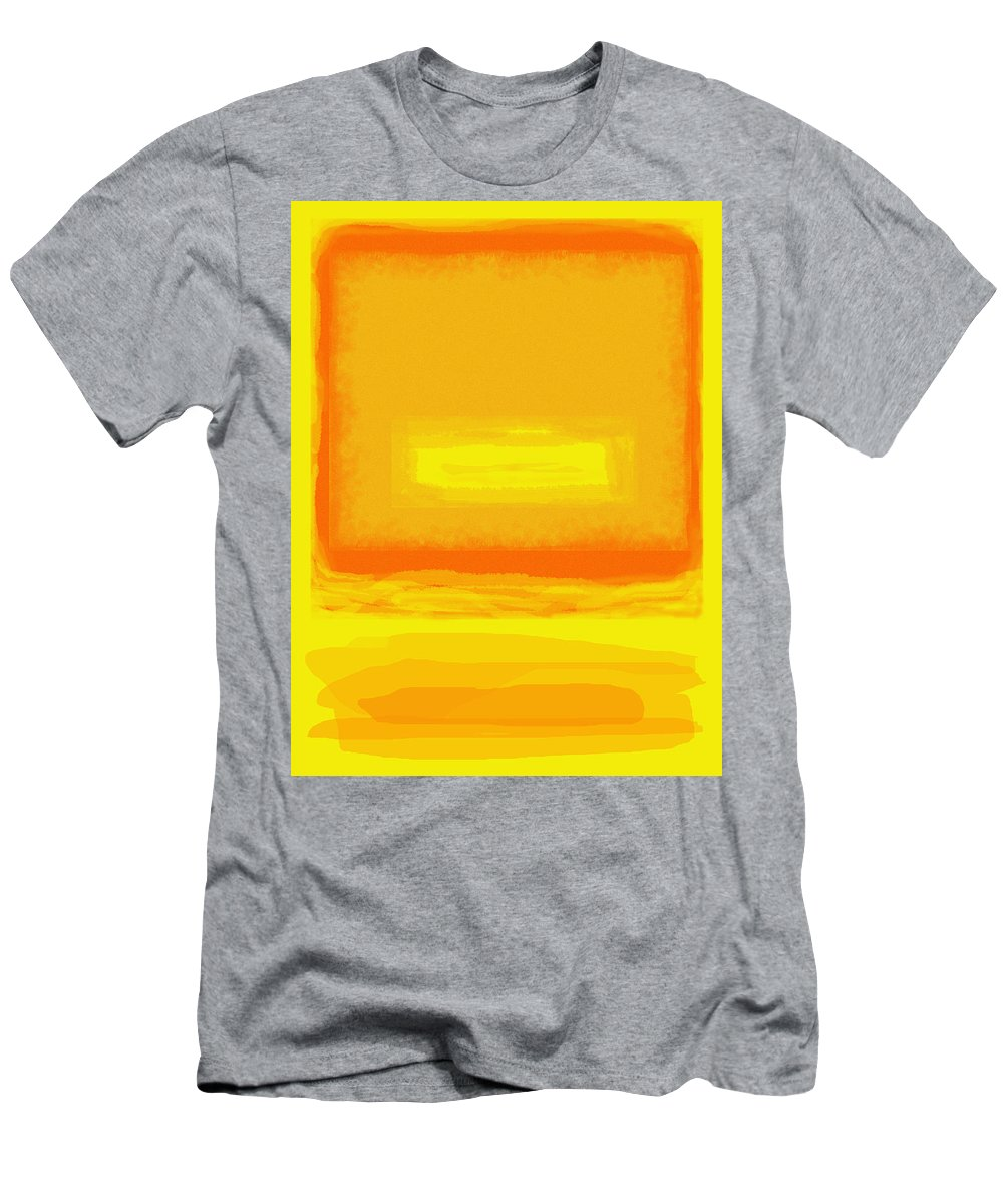 Color Field Men's T-Shirt (Athletic Fit) featuring the painting Color Field Sunset Yellow by Anne Cameron Cutri