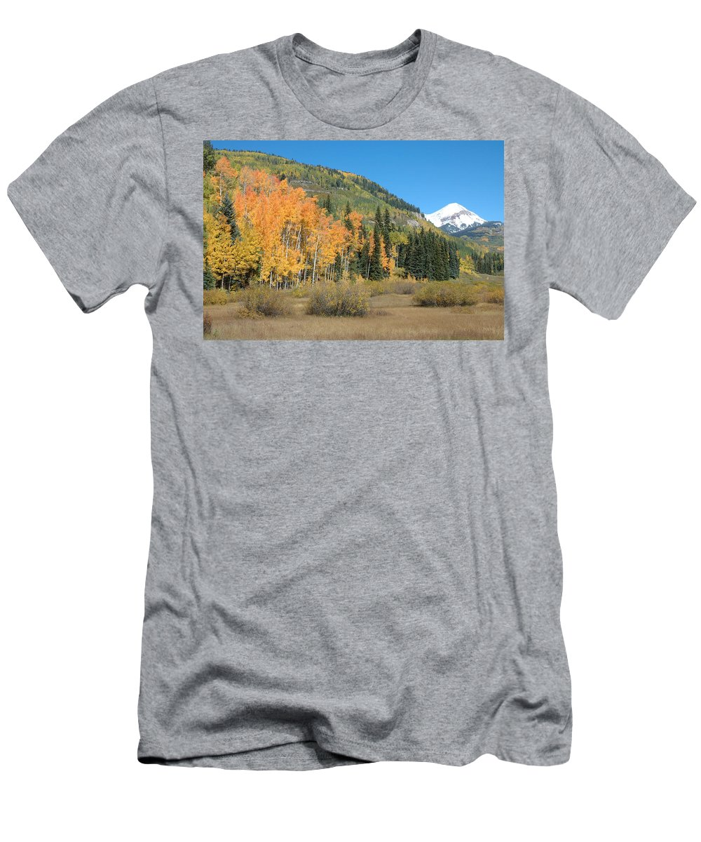 Aspen Men's T-Shirt (Athletic Fit) featuring the photograph Colorado Gold by Jerry McElroy