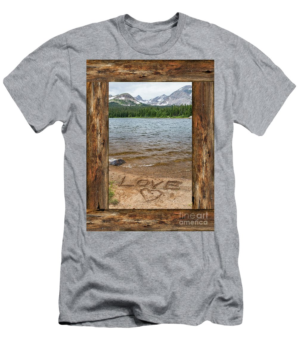 Windows Men's T-Shirt (Athletic Fit) featuring the photograph Colorado Love Window by James BO Insogna