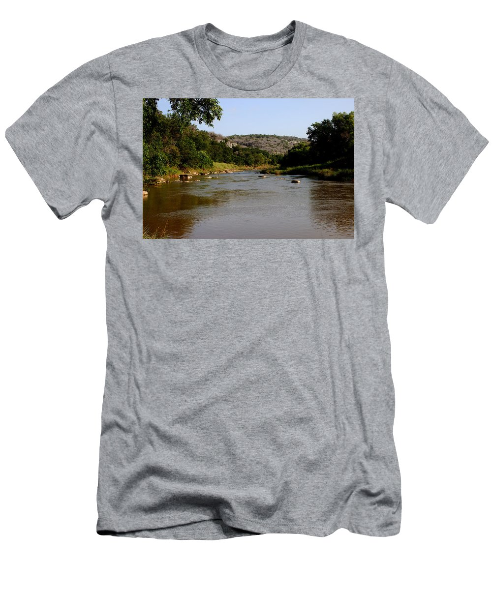 James Smullins Men's T-Shirt (Athletic Fit) featuring the photograph Colorado River Bend Texas by James Smullins